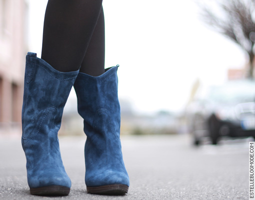 boots bleues minelli Shoes addict !