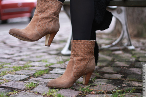 boots daim beige tressees Shoes addict !