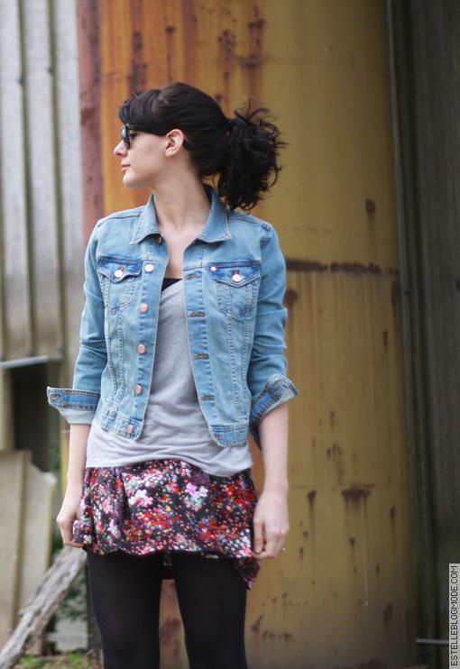 jupe fleurs Jean & Garden