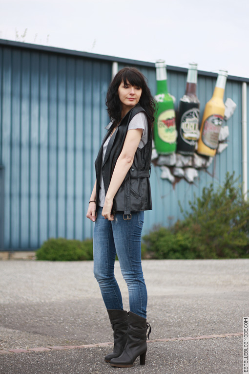 lookbook rock Vintage leather and beer !