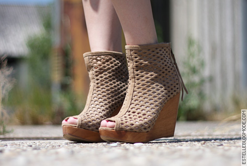 boots bershka Loose et laine