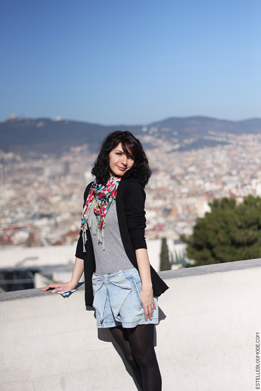 gilet cardigan noir zara On the top of Barcelona !