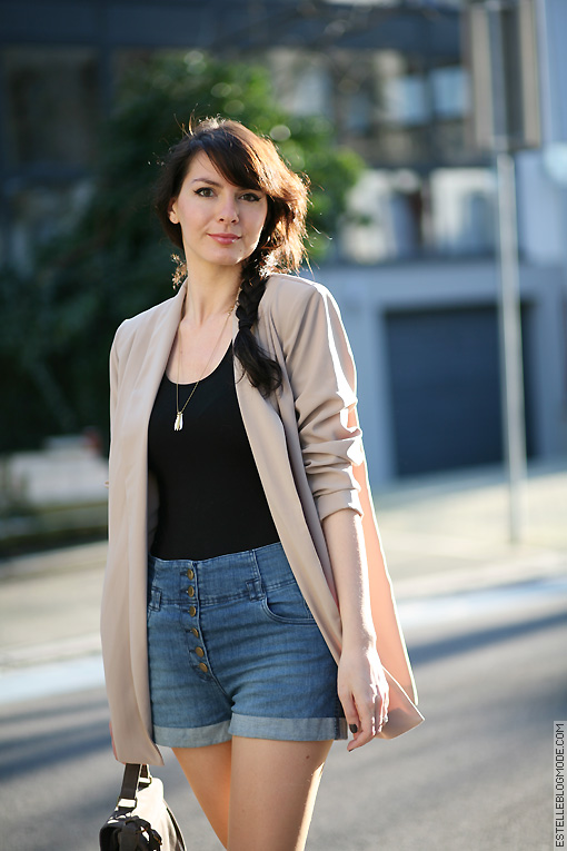 blazer beige preppy Nude and sun