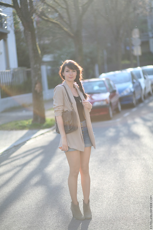 blazer nude newlook Nude and sun