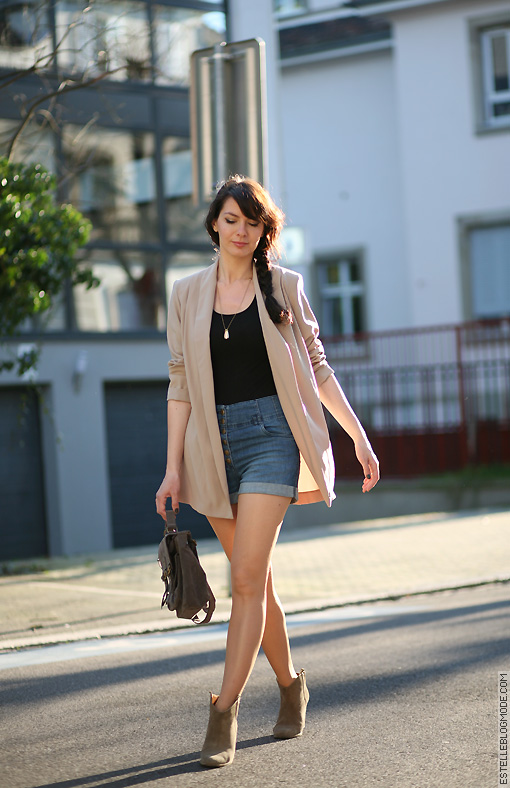 short taille haute denim Nude and sun