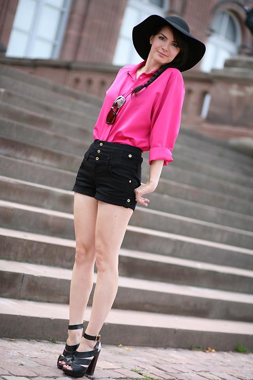 chemisier rose vintage Pink