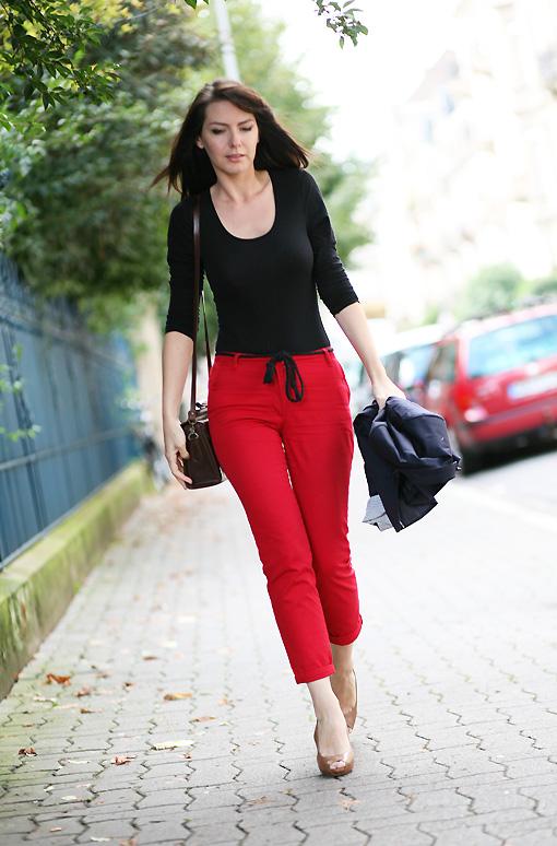 Red pepper look estelle blog mode - Que porter avec un pantalon beige femme ...