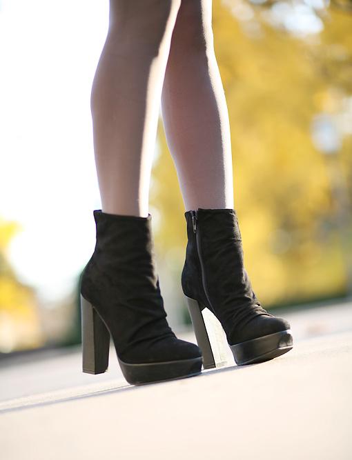 boots plateforme Autumn Fur