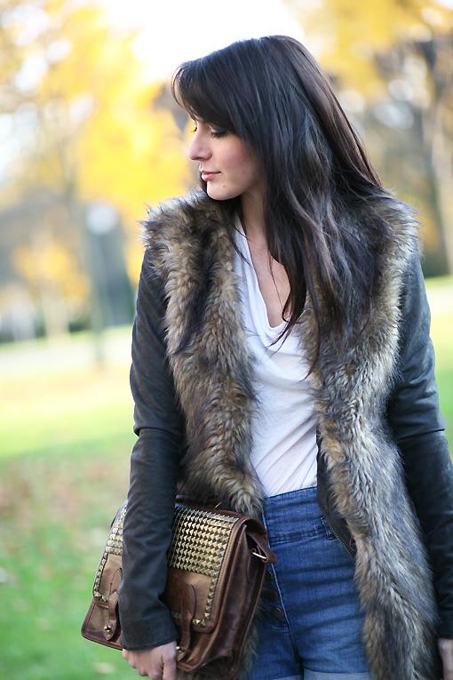 gilet fausse fourrure Autumn Fur
