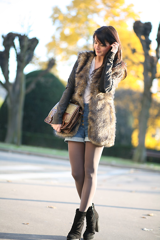 look hiver short Autumn Fur