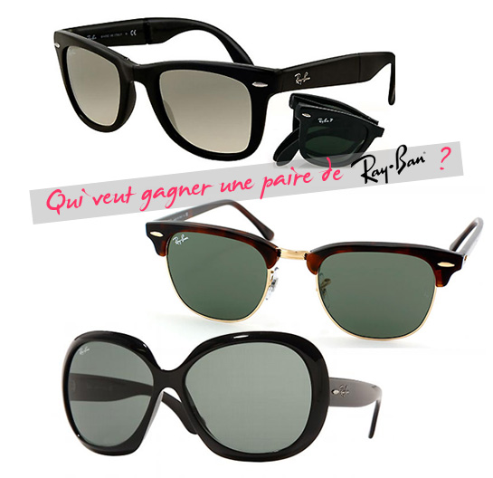 Concours : gagnez une paire de Ray Ban !