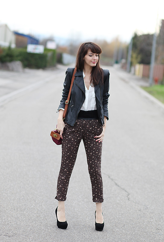 pantalon imprime automne hiver Somewhere between the stars