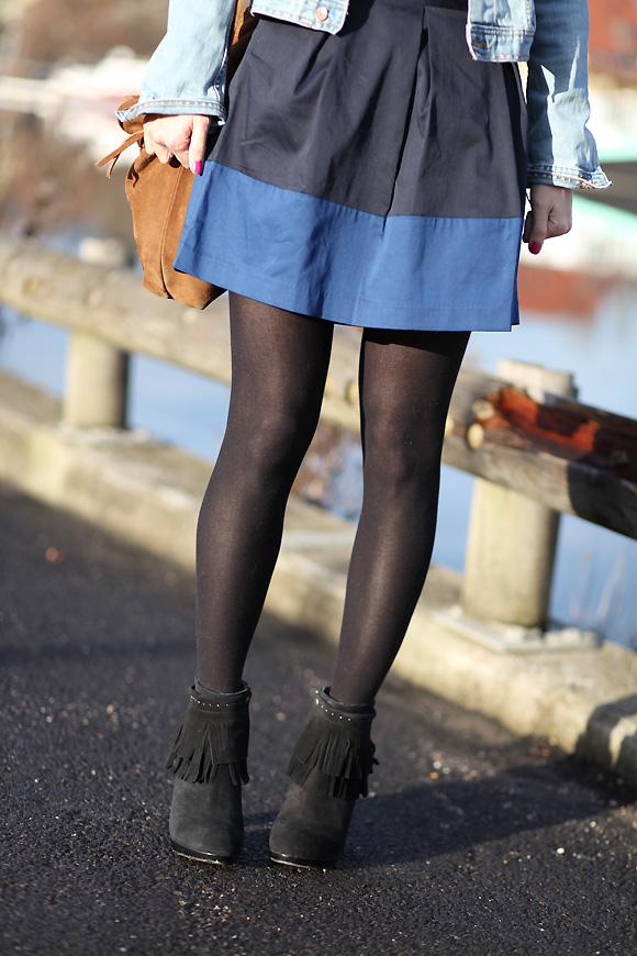 jupe bicolore Dernière de 2012
