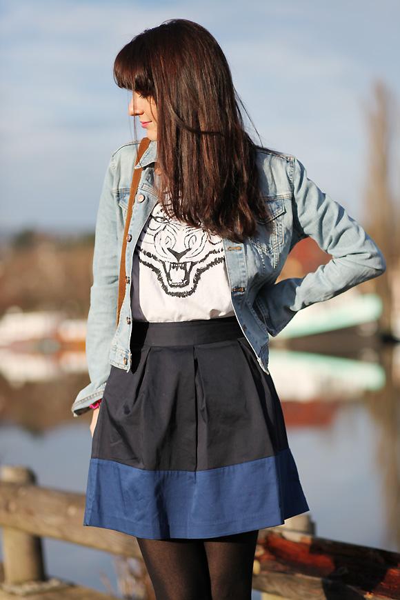jupe colorblock Dernière de 2012