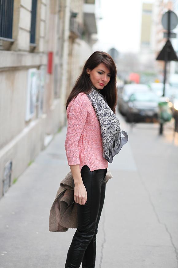 foulard mode Pull blush