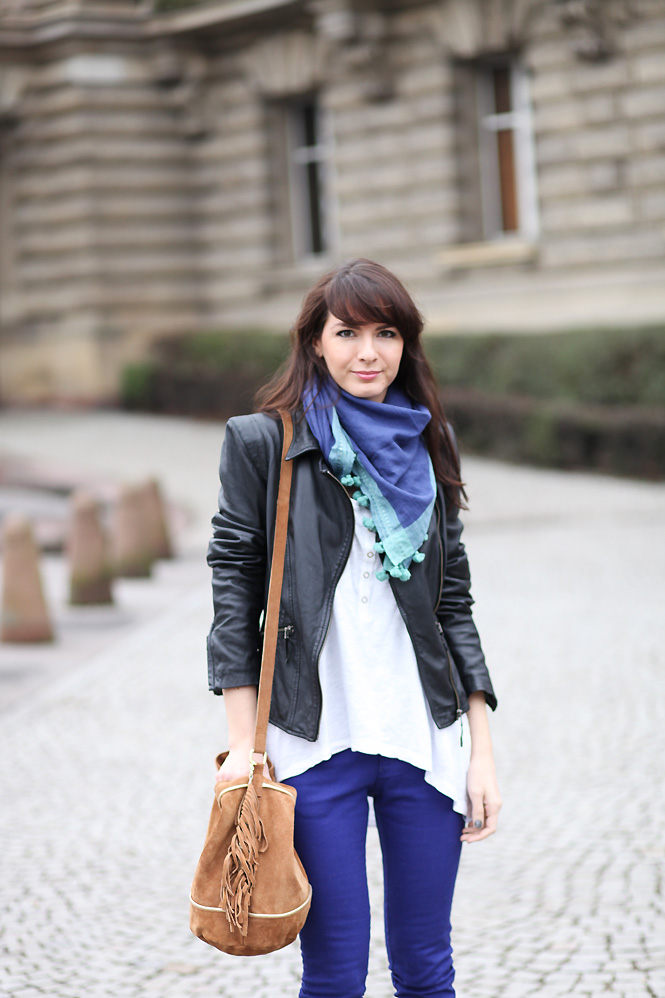 foulard bleu vert menthe Blue jeans