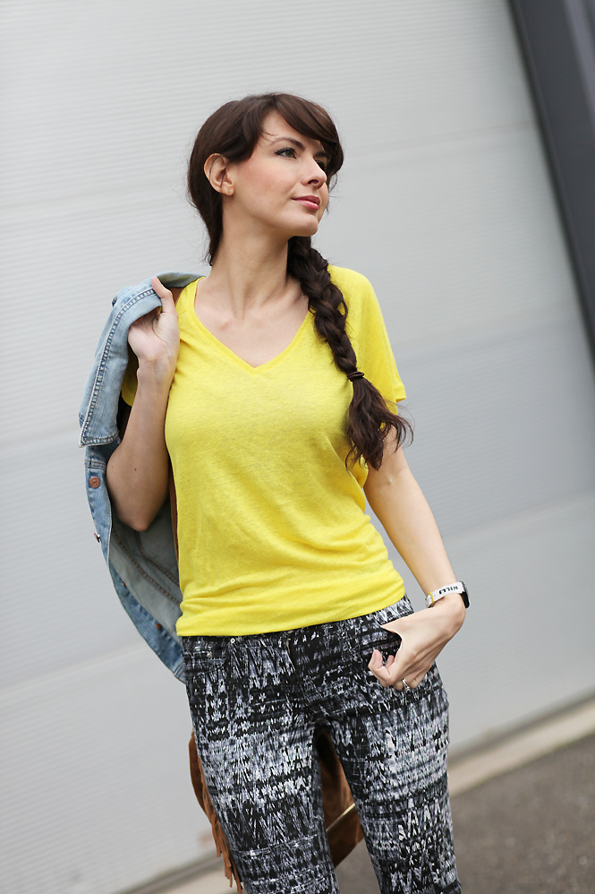 top loose citron Yellow