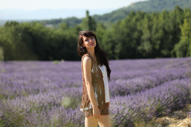 look mode provence Lavandes (et make up solaire)