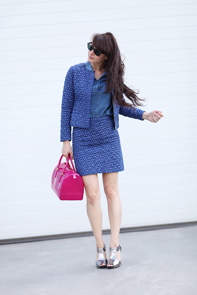 veste ikat somewhere Totally blue