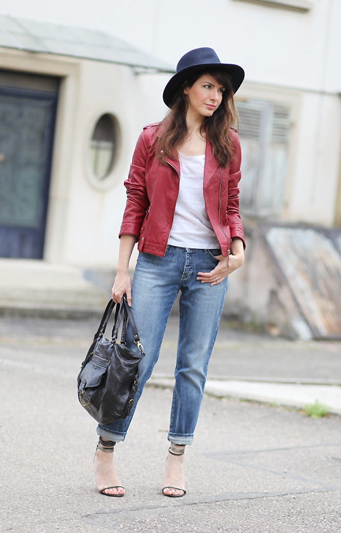 blouson cuir rouge1 Red leather