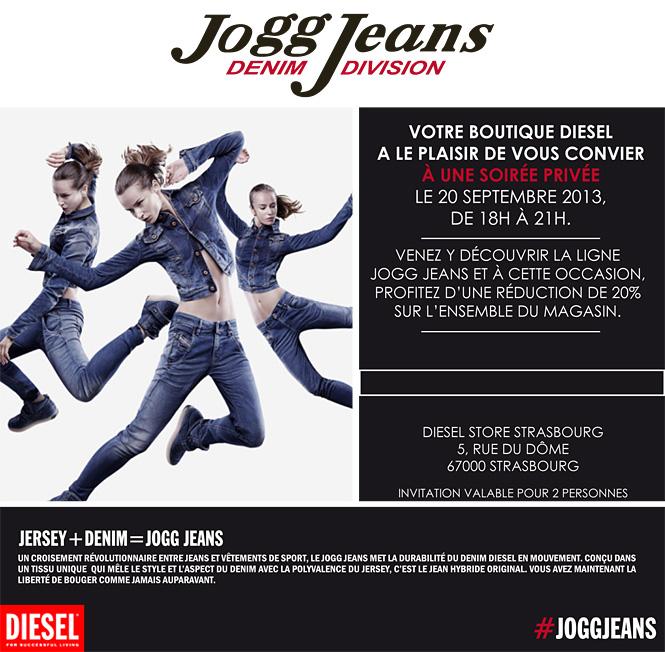 invitation diesel strasbourg Diesel Jogg Jeans (et invitation soirée privée)