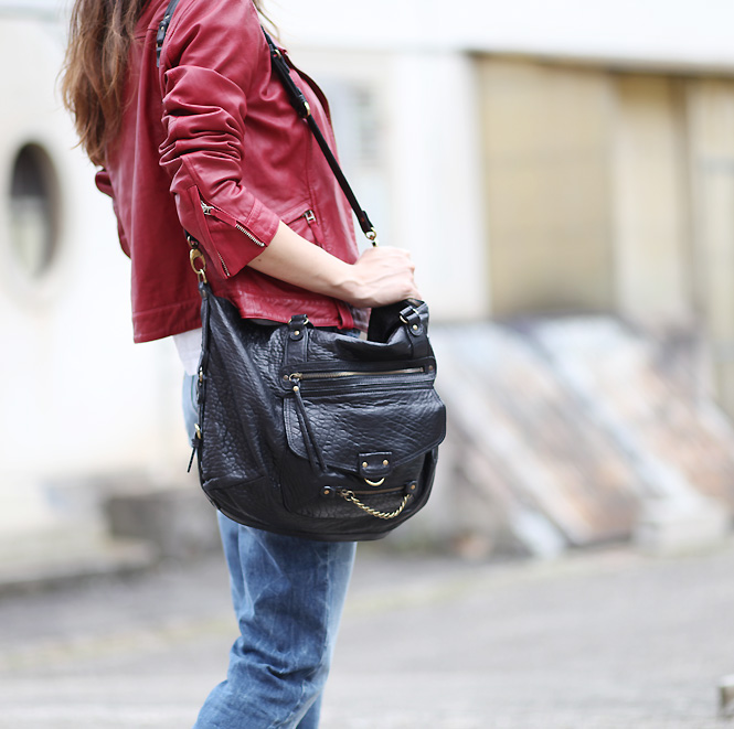 sac abaco paris1 Red leather