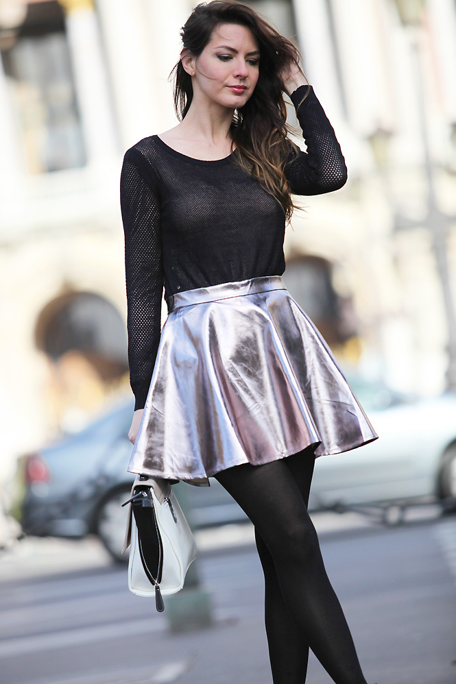 silver skirt Out of space