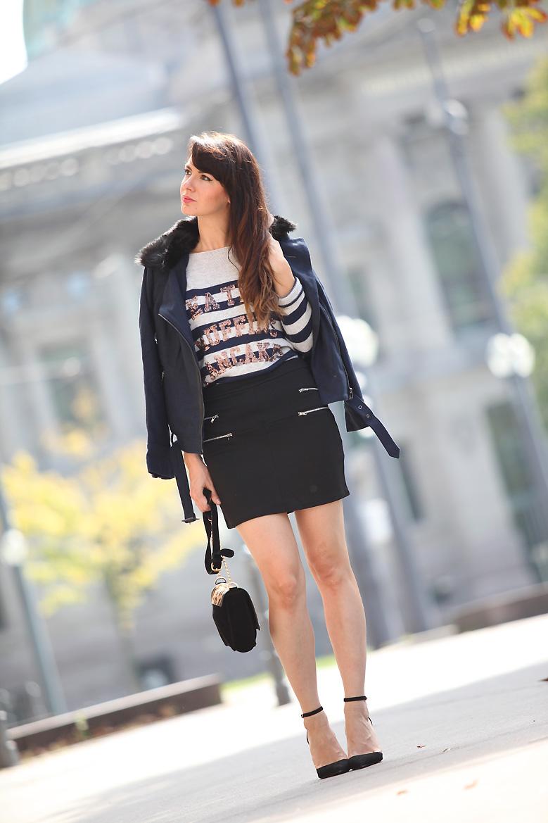 blouson la redoute 1P20S : Little black skirt