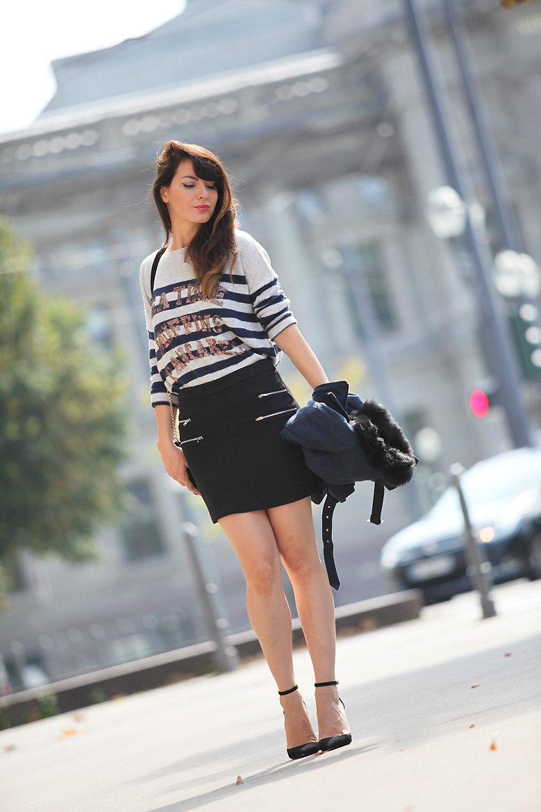 caban laine laredoute 1P20S : Little black skirt