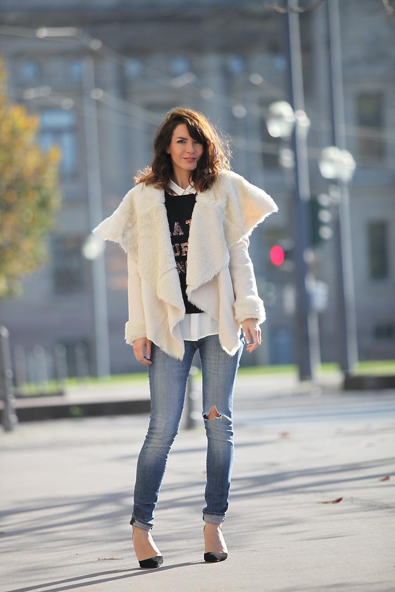 manteau mouton retourne Made with love
