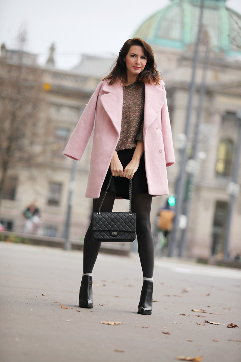 look manteau rose Little cats in town