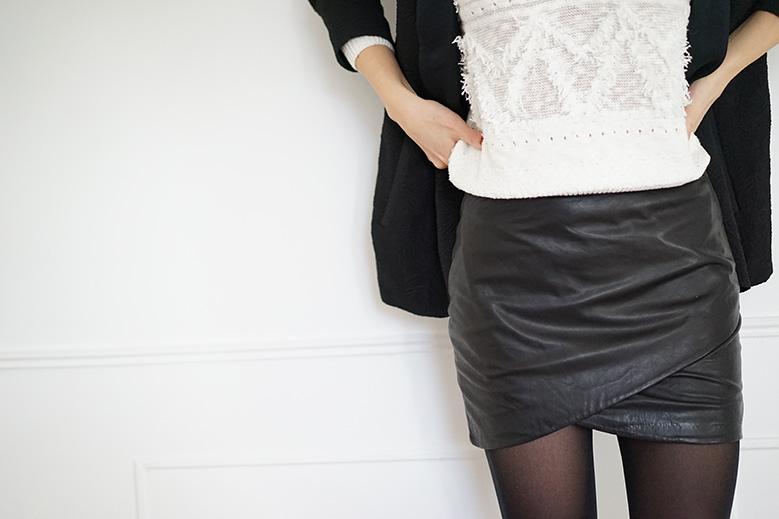 jupe-drapee-cuir