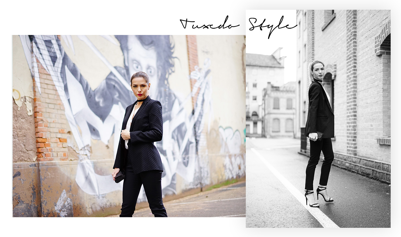tuxedo-style