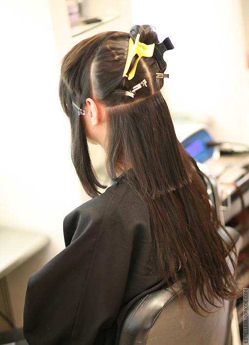 Extension de cheveux a keratine